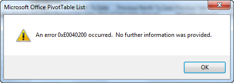 "Error when browsing cube in BIDS or SSMS: ""An error 0xE0040200 occurred. No further information was provided."""