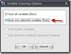 2 scan for selected variables