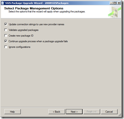 6 select ssis package mngmt options