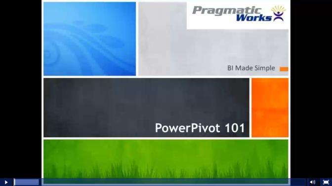 PowerPivot 101 Training Webinar with Q&A