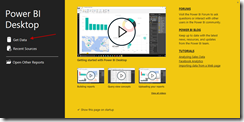 Get Data with Power BI Desktop Designer