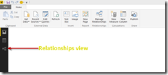 Power BI relationships view