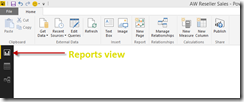 Power BI Desktop Designer Reports view