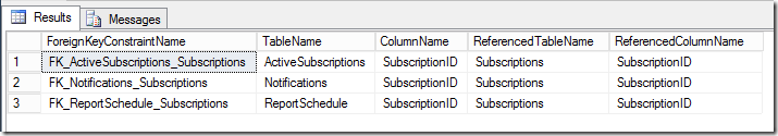 T-SQL to find FK key columns