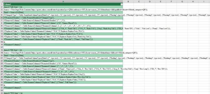 Modifying Power Query queries