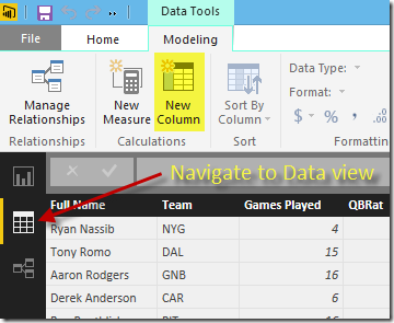 Create new column in Power BI Desktop