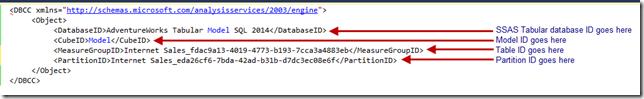 DBCC XMLA command for SSAS