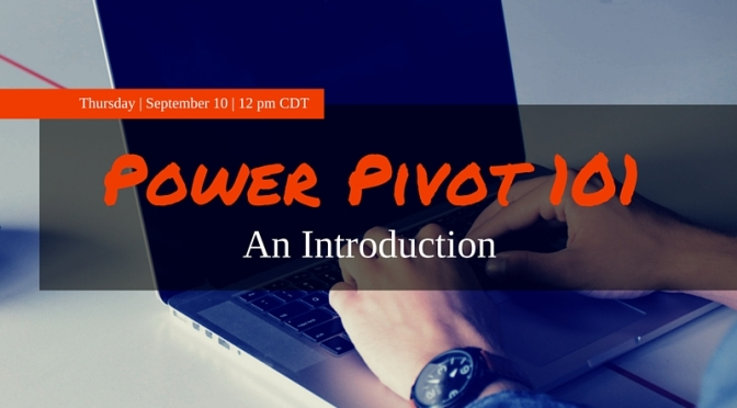 Join Me for Free #PowerPivot Training w/ @ExcelBIPASS Sept 10 – 12p CDT