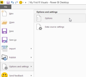 Enable R visuals in Power BI