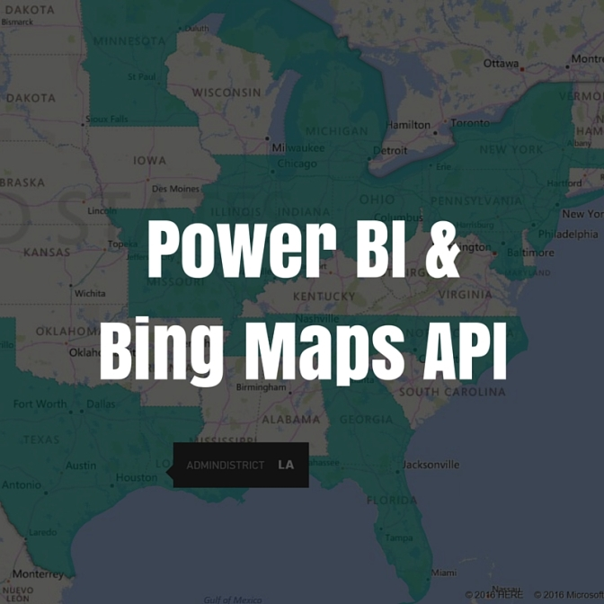 Power BI and the Bing Maps API