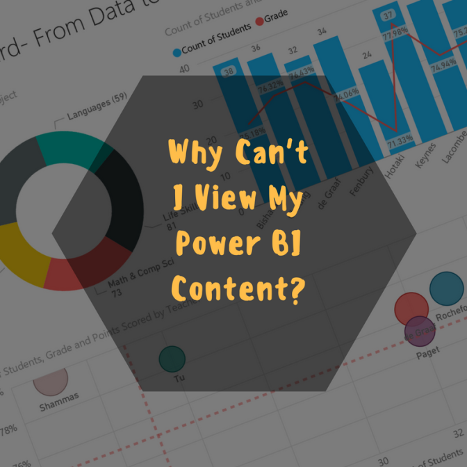 Why Can't I View My Power BI Content Pack?