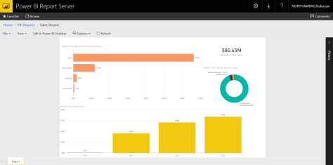 Power BI report in Power BI Report Server